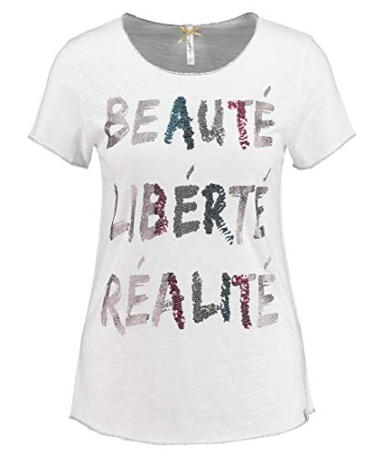 KEY LARGO Real Round Camiseta, White (1000), L para Mujer