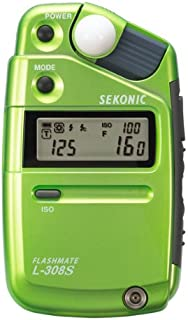 Sekonic 401-303 L-308S Flashmate Light Meter Anniversary Edition for Strobes - Pale Light Green