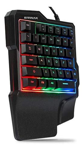 Teclado Semi Mecânico Gamer Uma Mão One Hand Single Reduzido Led Rgb USB Celular Pc
