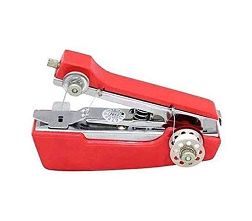 G-MTIN Snap Mini Manual Stapler Style Hand Sewing Machine,Red