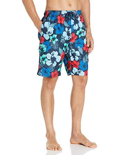 Kanu Surf Men's Legacy Swim Trunks (Regular & Extended Sizes), Hangout Navy/Red, Large