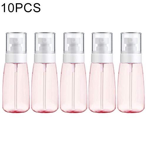 10 PCS Portable en Plastique Rechargeables Fine Mist Parfum Vaporisateur Transparent pulvérisation Vide Bouteille Pulvérisateur, 60 ML (Rose) Facile à Transporter Flacon pulvérisateur (Color : Pink)