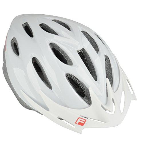 FISCHER Erwachsene Fahrradhelm, Radhelm, Cityhelm, Weiß, S/M