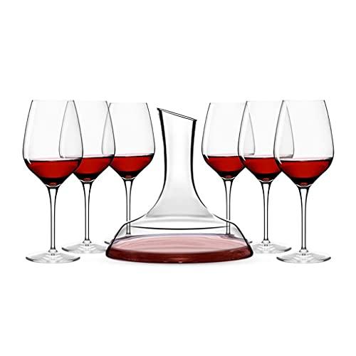 Copas de vino Copa de Vino de Cristal y decantador, Pareja de Restaurante, Traje de Copa de Fiesta, Caja de Regalo, Regalos para los Amantes del Vino