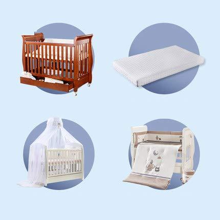 Bella Entfernbare Multifunktionskrippe, Baby-Spiel-Bett, Das Sofa-Bett Der Kinder, Baby Mit Geländer Mit Rollen-Bett,Brown,2