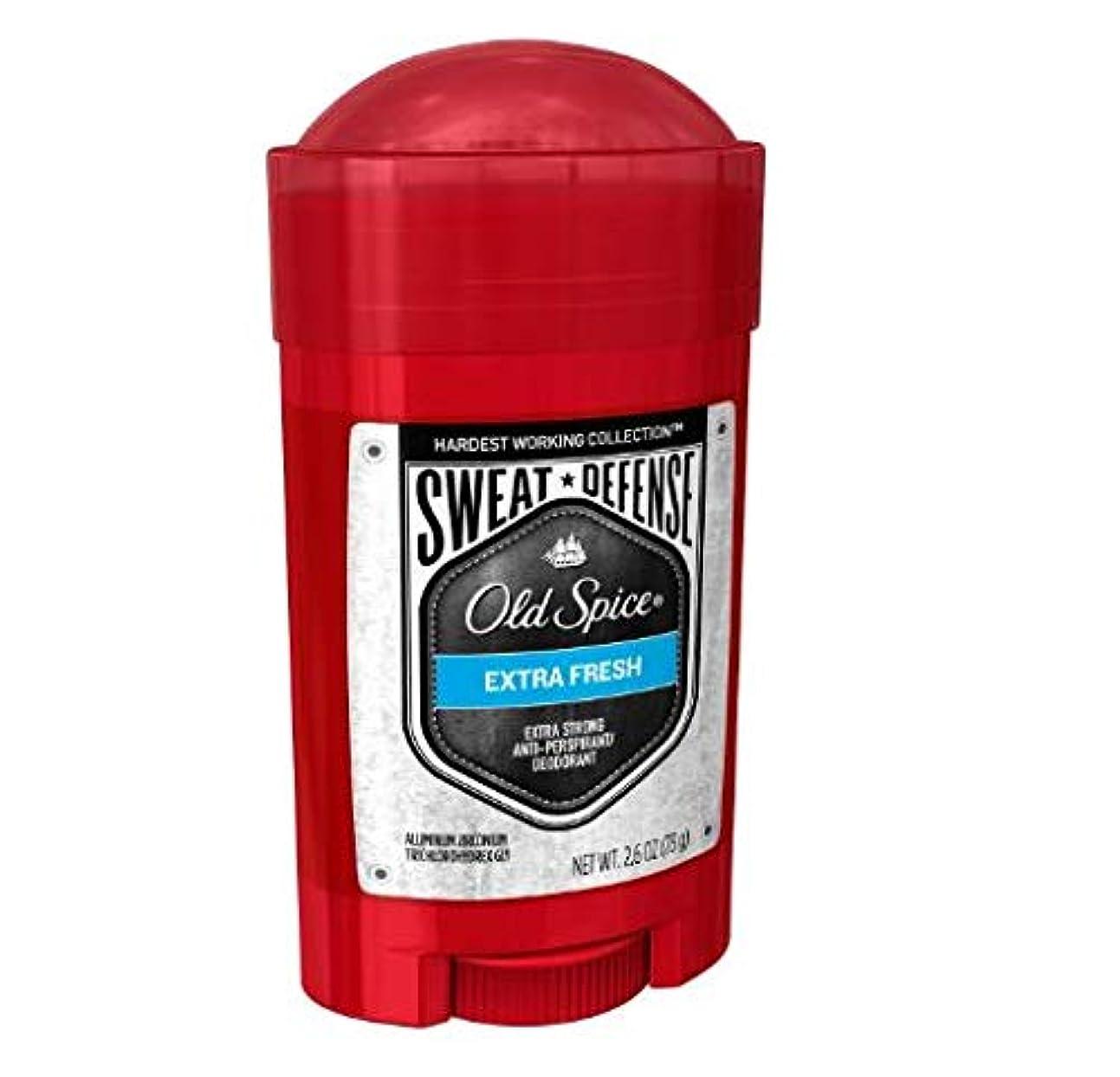 メディックレオナルドダお金Old Spice Hardest Working Collection Sweat Defense Extra Fresh Antiperspirant and Deodorant - 2.6oz オールドスパイス ハーデスト ワーキング コレクション スウェット ディフェンス エクストラフレッシュ デオドラント 73g [並行輸入品]