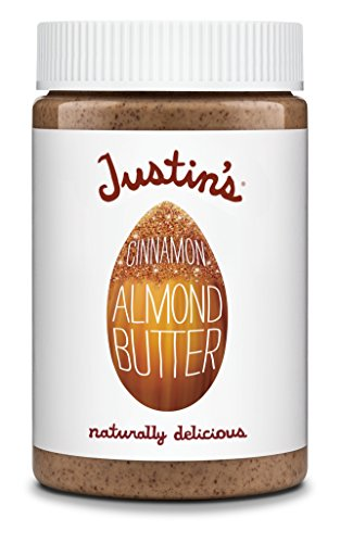 Justin's Cinnamon Almond Butter, No Stir, Gluten-free, Non-GMO, Responsibly Sourced, 16oz Jar