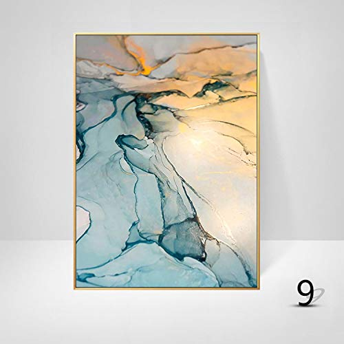 WSNDGWS Studie kamer decoratie schilderij Scandinavische stijl abstracte kunst eenvoudige kleur verf inkjet muur schilderen zonder fotolijst 30x40cm I2