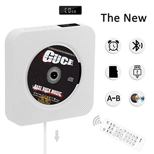 Reproductor CD, Reproductor de música y películas Bluetooth, Altavoces de Alta fidelidad, Radio FM USB MP3,Conector para Auriculares de 3.5 mm,Regalos para el hogar