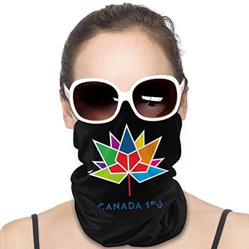 Canada 150 - Protector de cara resistente al viento, multiuso, bandana, pasamontañas para el cuello