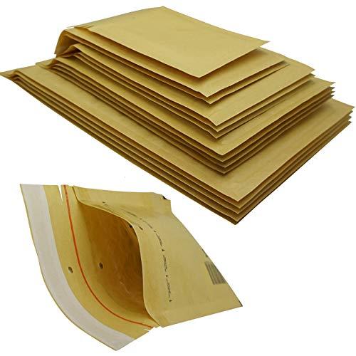 200 Stück Luftpolsterumschläge in braun - 2/B - (140 x 225) - Luftpolstertaschen/Versandtaschen - elb-verpackungen