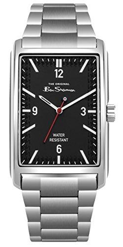 Ben Sherman Herren Datum klassisch Quarz Uhr mit Edelstahl Armband BS013BSM