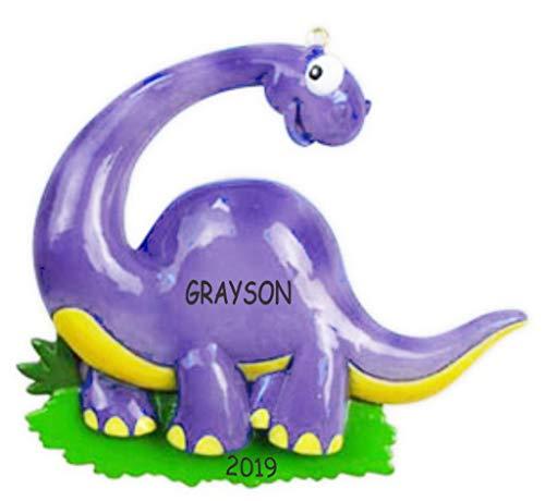 Personalized Dinosaur Christmas Ornament (Brontosaurus)