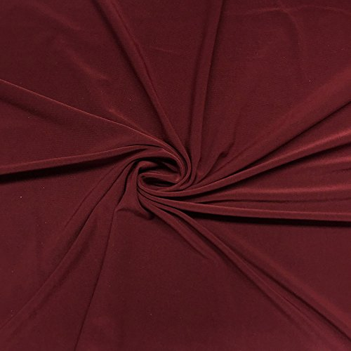 ITY Fabric Polyester Lycra Knit Jersey 2 Way Spandex Stretch 58' Wide by The Yard (1 Yard, Wine)