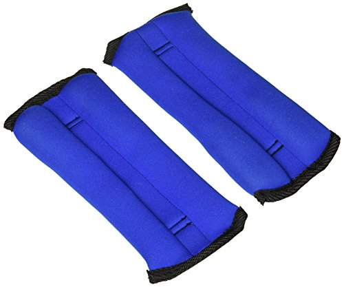Tone Fitness Womens HHA TN002 AnkleWrist Weights Pair BlueBlack 1 Lb