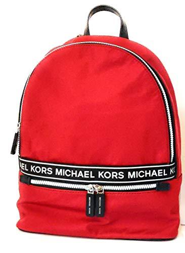 Michael Kors rojo Mochila de Nylon escarlata 30x32x10cm nuevo
