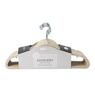 Simplify Velvet Hangers (25, Ivory)