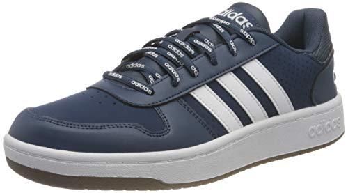 adidas Men's Hoops 2.0 Basketball Shoe, Crew Navy FTWR White Gum5, 10 UK