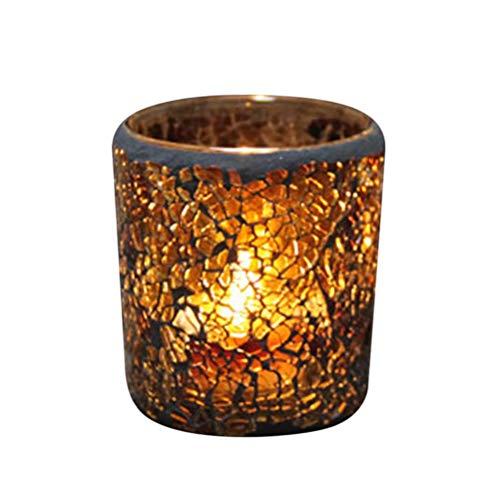 Mobestech 1pc candelabros de Vidrio Ornamento candelabro Vintage con Velas candelabros perfumados para la decoración del hogar de la Boda de Halloween