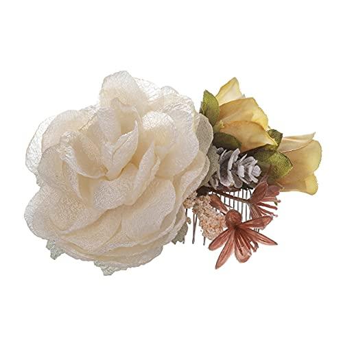 LANMEISM Sombreros Fashion Flower Cabello Tenedor Peinado Peine Peine Horquillado Lady Elegante Tocado Mujeres Pelo Pelo Cabello Cabello Girl Pelo Joyería Accesorios (Farbe : 2629 c)