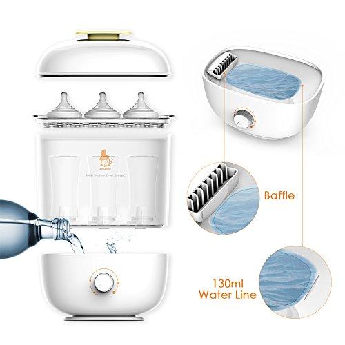 Balla Bébé Babyflaschen Sterilisator Elektrischer Dampfsterilisator und Trockner, 3 in 1 Flaschen Trockner für verschiedene Nuckelflaschen, Sterilisierung, Trockner und Flaschenlagerung - 6