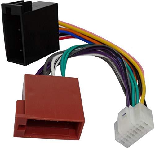 AERZETIX Adapter Konverter Kabel Adapter Stecker ISO Kabelbaum H7-Auto für Alpine Autoradios
