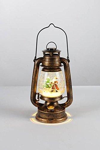Sesua LED-Petroleumlampe Schneekugel mit Beleuchtung Weihnachtsmann