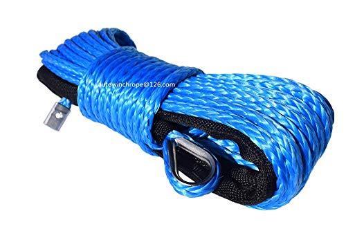 Fly&Hi Cuerda de cabrestante sintética de 6 mm x 15 m, Cuerda UHMWPE de 1/4 Pulgadas...