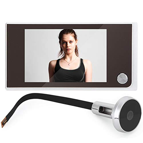 Tiffasha Hem visuell dörrklocka – dörröga tittare kamera 3,5 tum digital LCD 120 graders titthålstittare foto visuell övervakning elektronisk kattögonkamera lätt att installera för hemmakontorets säkerhetssystem
