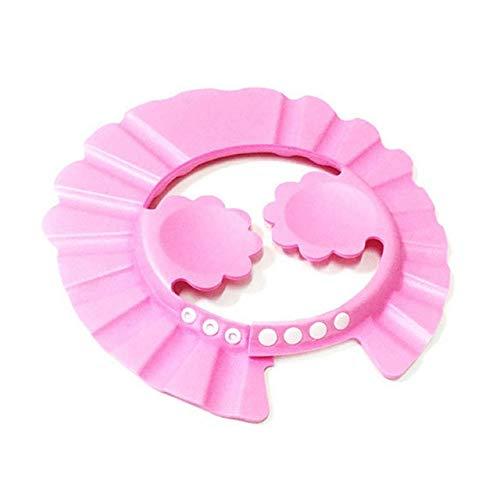 Cuffia per la doccia per bambini Cappello regolabile per lavare i capelli per neonato Protezioneper leorecchieper bambiniCopricapo da bagno pershampoo per bambini-pink style 3