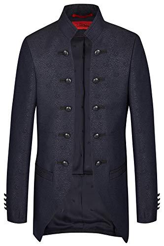 Tziacco ROYAL Hochzeitsanzug in Einem mitternachsblauen Paisleydesign, Slimline Größe 46