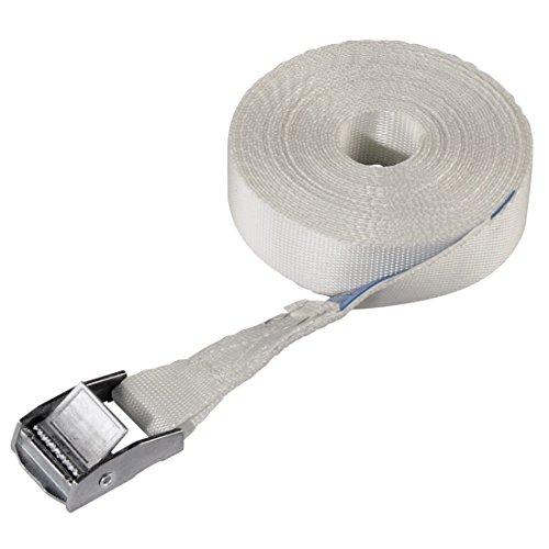 Xavax Zurrgurt mit Klemmschloss für Waschmaschine und Trockner, Sicherungsgurt Spanngurt, Länge: 6 m, Breite: 25 mm