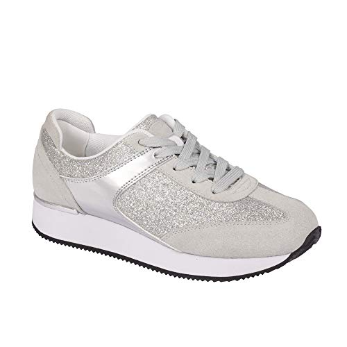 Scholl Sneakers Charlize Silber 36