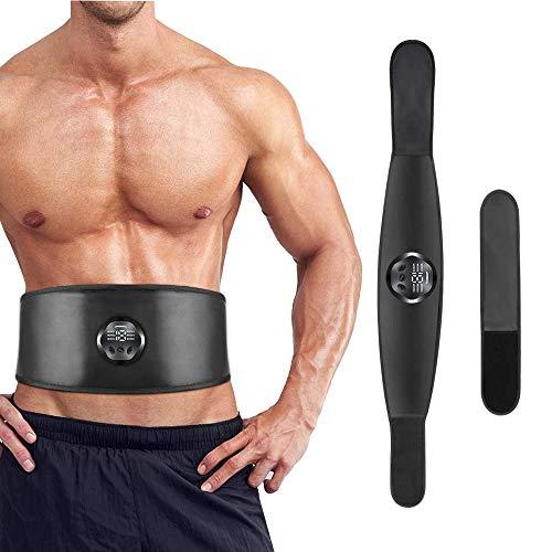 NOBRAND Electroestimulador Muscular Abdominales, Estimulación Muscular Masajeador Eléctrico Cinturón Abdomen Brazo Piernas Glúteos no Necesita Almohadillas ni Gel USB Recargable