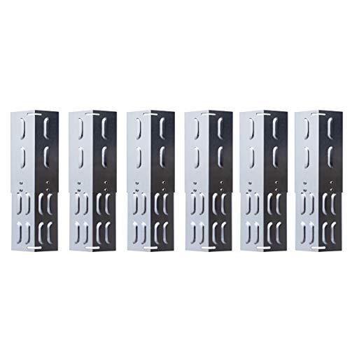TAINO Universal-Brennerabdeckung Set Edelstahl größenverstellbar Tropfschutz Flammenverteiler (6er Set Universal)