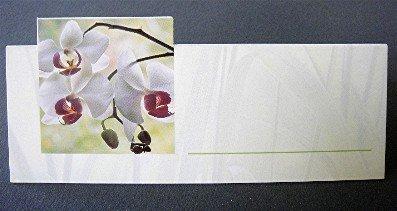 """'Tarjetas de mesa 200g, 115x 82mm, diseño """"Orquídea,-Se envía per 100unidades-Precio por 100unidades"""