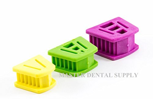 Dental Silicone Mouth Prop Tattoo Bite Block 3 Pcs Kit (small, medium, large) Color Coded