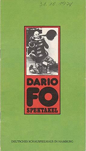 Programmheft Dario Fo Spektakel. Premiere 14. Oktober 1978