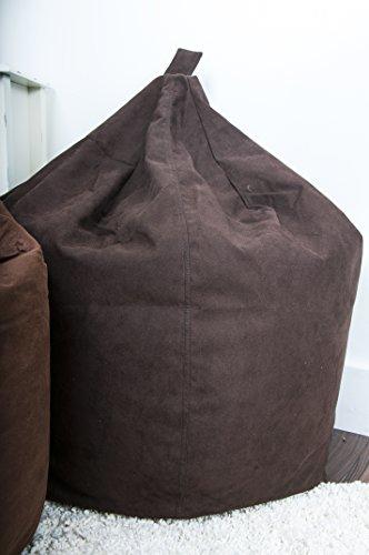 Lancashire Textiles Classique en Daim Pouf Poire en Chocolat