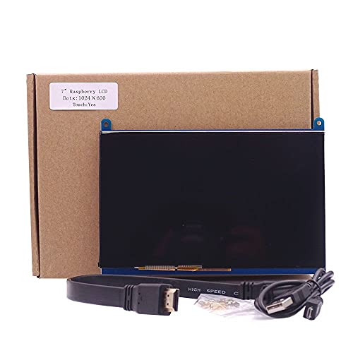 IGOSAIT 7 inch 1024 * 600 Capacitive Touch Panel TFT LCD Module Screen Display for Raspberry Pi 3 B+/4b (Color : Collocation)