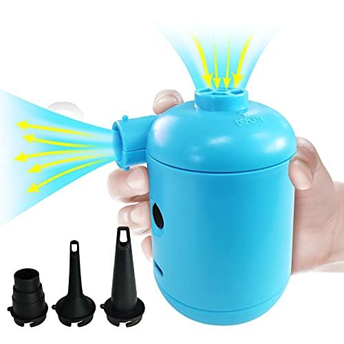 Mini Bombas Eléctricas, Hinchador Eléctrico Recargable con 3 Boquillas, Portatil Inflador Electrico...