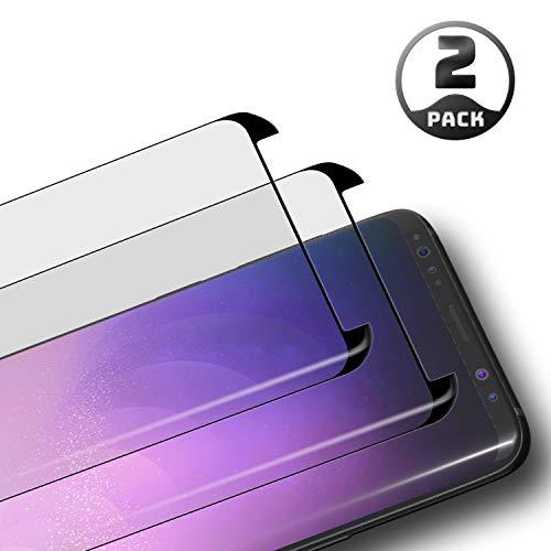 Le Destin Galaxy S8 Panzerglas Schutzfolie,2 Stück Panzerglasfolie für Samsung Galaxy S8,9H Anti-Bläschen,3D Touch Displayschutzfolie für Samsung Galaxy S8