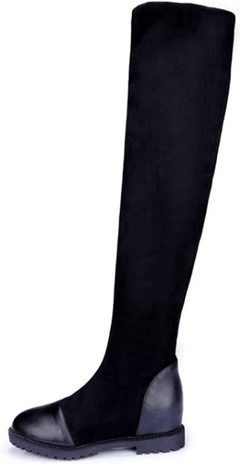 Patch color Over The Knee Boots Thick Sole Platform Slim Long Winter Autumn Thigh High Boots