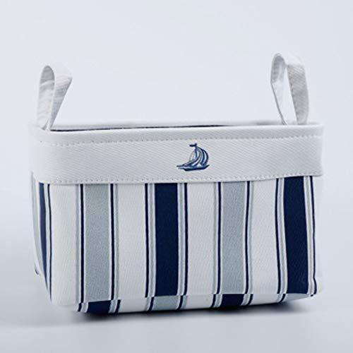 wkwk Laundry Basket,canvas Basket,Large Laundry Basket,simple And Light Style,thick Cloth Storage Basket,suitable For Desktop Sundries Or Clothing Storage (blue)