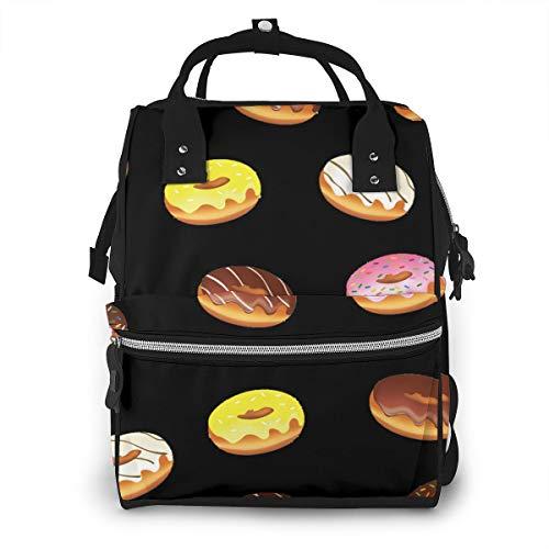 Dnwha Fashion Donut Camping Windeltasche, wasserdicht, Segeltuch, Laptoprucksack, personalisierbar