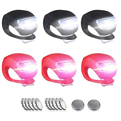 Stylelove Mini-LED-Fahrradbeleuchtungsset, wasserdichtes Silikongehäuse, Fahrrad-Vorder- und Rückleuchte, (aufsteckbar), Blitzlichter für Motorroller, Beleuchtung für Kinderwagen