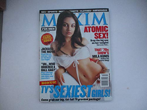 OCTOBER 2002 MAXIM MAGAZINE FOR MEN FEATURING THAT 70'S SHOW'S MILA KUNIS SHAKES HER GROOVE THING!*