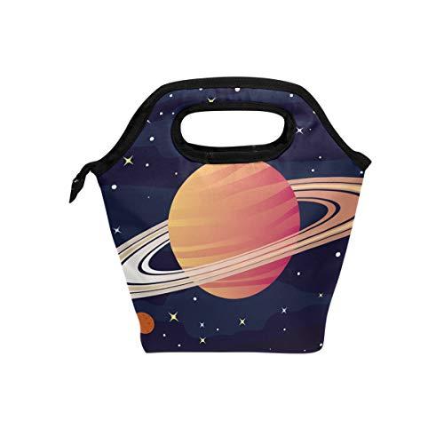 Montoj Rings of Saturn Lunchtasche für Erwachsene, Kühltasche