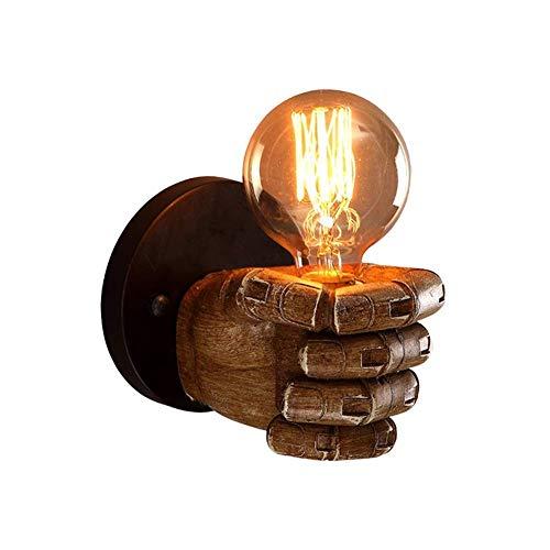 YANQING Duurzame Creatieve Vuist Muurhars Spot Ongeëvenaarde Kwaliteit Customer Care Licht Lamp Totale grootte ronde Base Lamp Vormloos+hars Sconce (Maat: Rechts), Grootte: Links