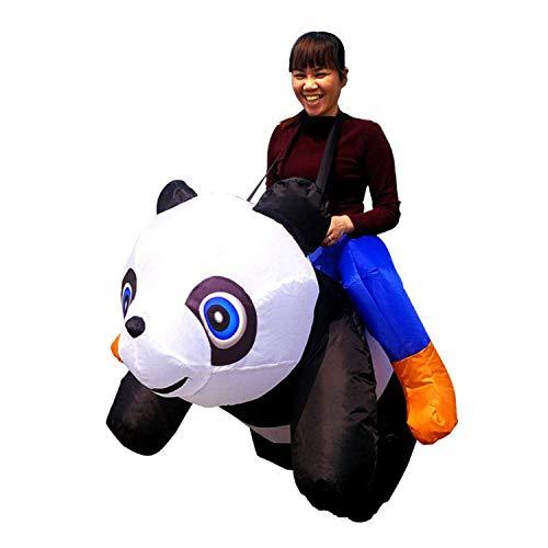 RJJBYY Aufblasbares Kostüm für Erwachsene mit Panda-Motiv, lustiges aufblasbares Kostüm für Halloween, Cosplay, Streichspiel